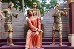 May, 2019 - Arthunkal, Kerala, India - St. Andrew's Church - The Crowning With Thorns