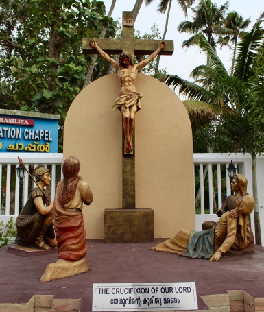 May, 2019 - Arthunkal, Kerala, India - St. Andrew's Church - The Crucifixion of our Lord