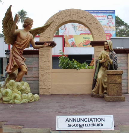 May, 2019 - Arthunkal, Kerala, India - St. Andrew's Church - Annunciation