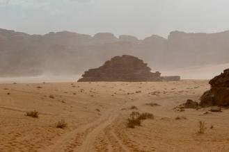 June, 2019 - Wadi Rum, Jordan - Desert Storm