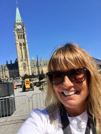 Parliament Hill, Ottawa, Ontario - Selfie with Centre Block
