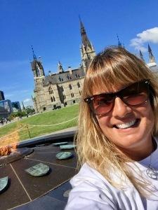 Parliament Hill - Selfie with West Block & Centennial Flame
