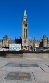Parliament Hill, Ottawa, Ontario - Centennial Flame & Centre Block