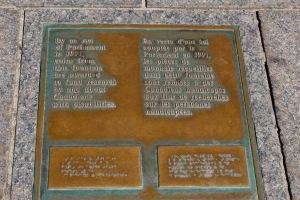 Parliament Hill, Ottawa, Ontario - Centennial Flame Plaque - Donations