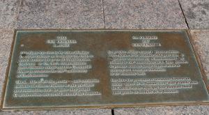 Parliament Hill, Ottawa, Ontario - Centennial Flame Plaque