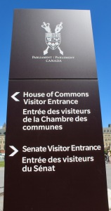 Parliament Hill, Ottawa, Ontario - Signage