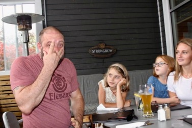 Grown-Up, Family Fun - Millette/Arnoldin Clan - Dad having fun while his clan watches!