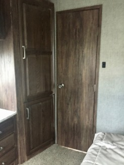 June 2019 - 2017 Keystone Cougar 337fls - Interior - Bedroom - Door to Bathroom