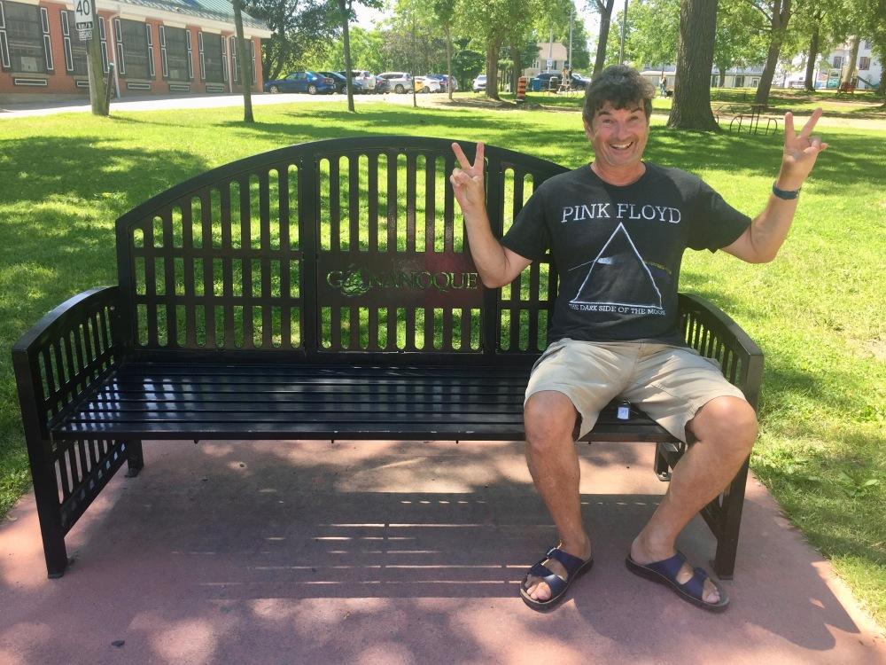 Gananoque, Ontario - Park Bench