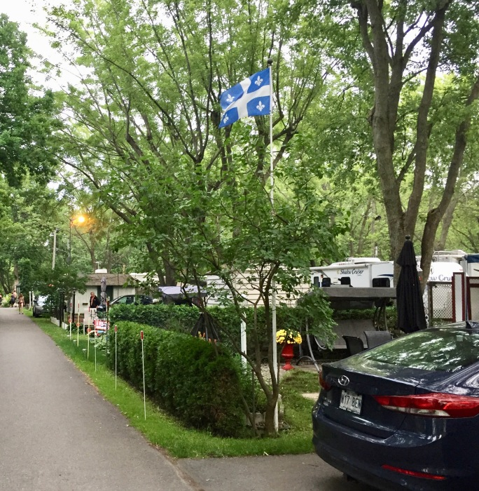 2019 - Sainte-Madeleine, Quebec - Camping Ste-Madeleine RV Park - Quebec Flag