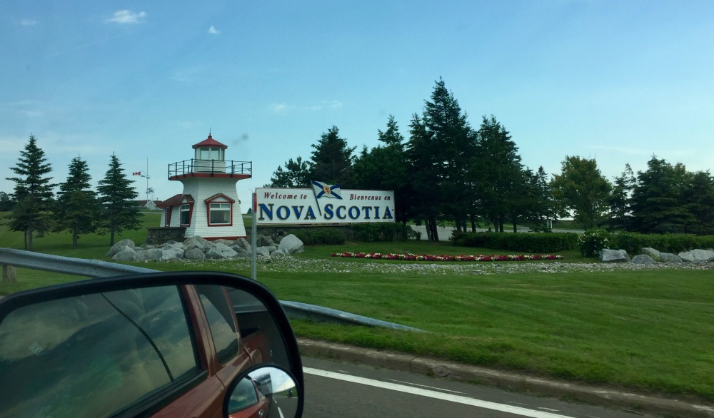 On the road again! Crossing from New Brunswick to Nova Scotia
