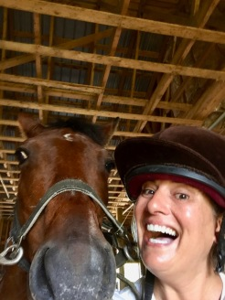 2019 - Liz and me - Horses! My new BFF, Portia!