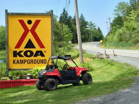 Settling into RV life - Campgrounds - KOA - Upper Sackville, Nova Scotia