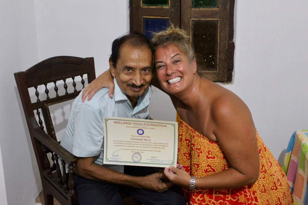 2019 - India - Mararikulam North - Receiving my Certificate from Dr. Raj!