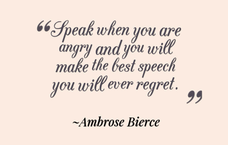 Ambrose Bierce Quote on Anger