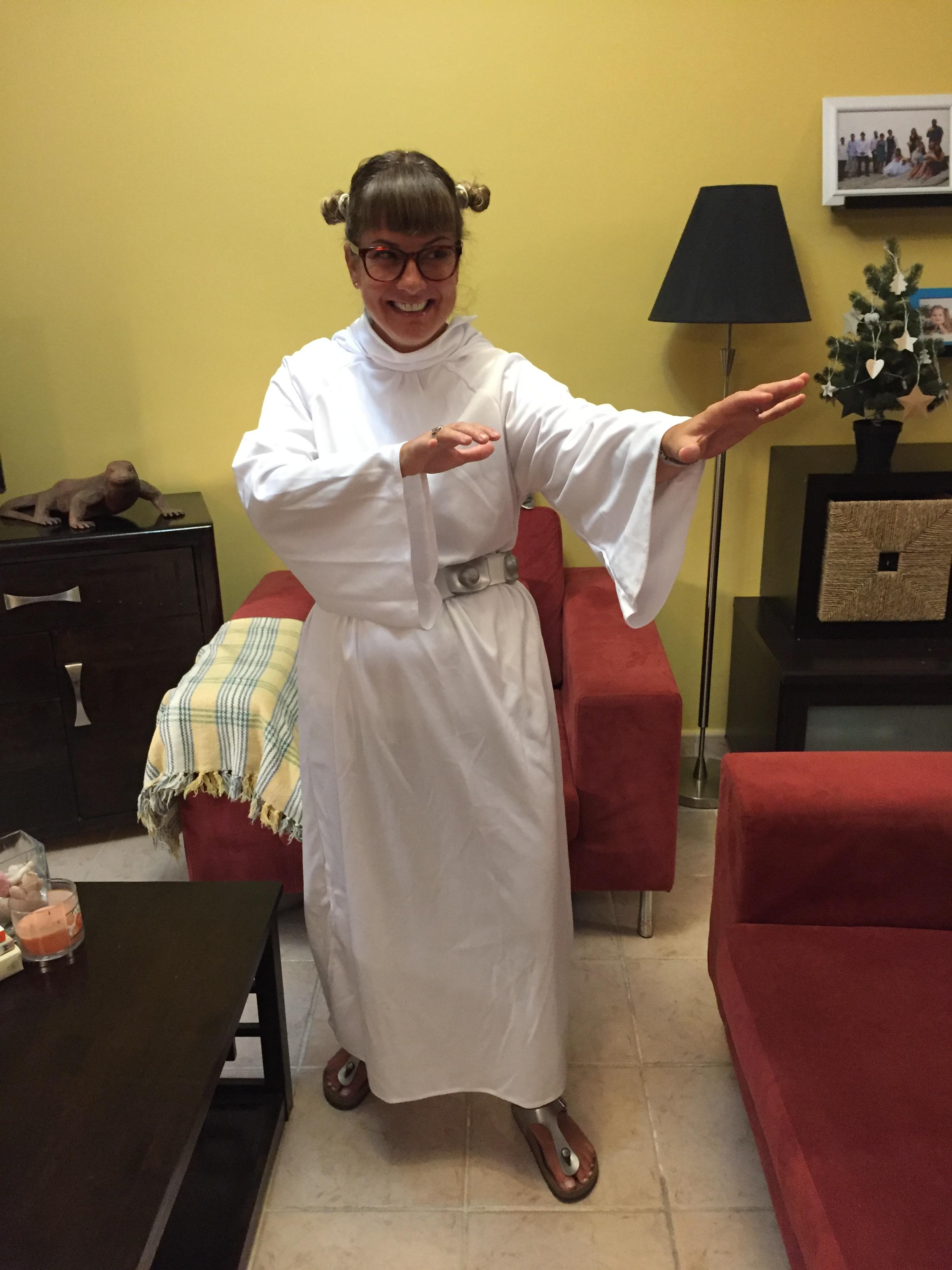October 2016 - Doha, Qatar - Halloween day at American School of Doha - Nerd Princess Leia!