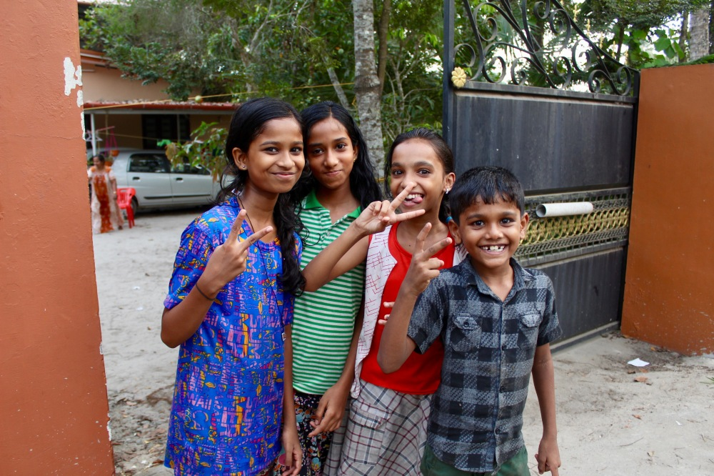 2019 - Mararikulam North, Kerala, India - Happy kids!