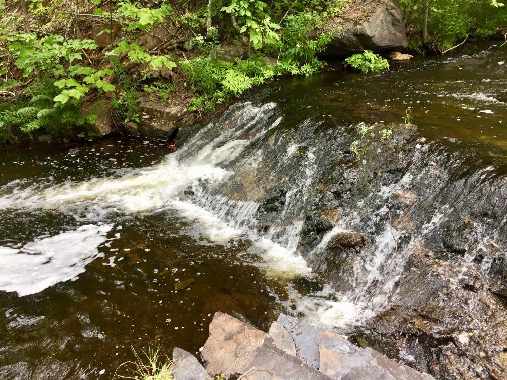Ettinger Falls, Three Mile Plains, Nova Scotia - Walking up the river to Ettinger Falls