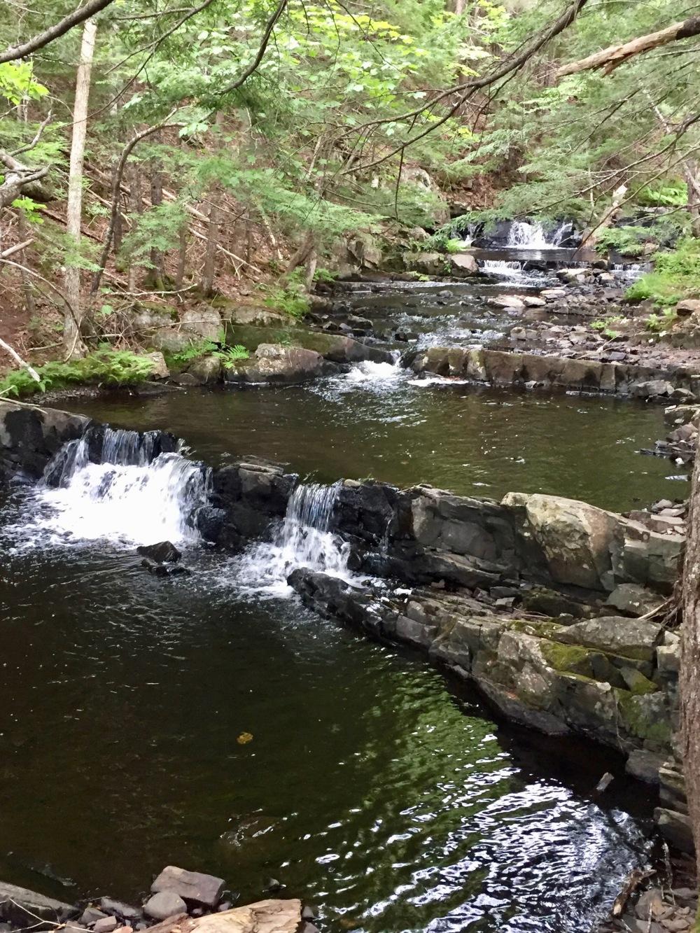 Ettinger Falls, Three Mile Plains, Nova Scotia - River behind the falls