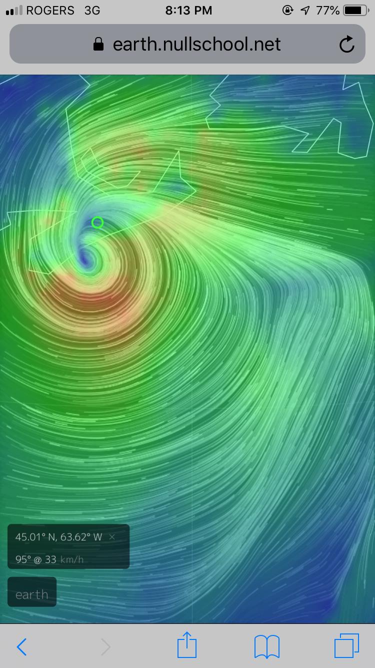 September 7th, 2019 - Hurricane Dorian Makes Landfall on Nova Scotia