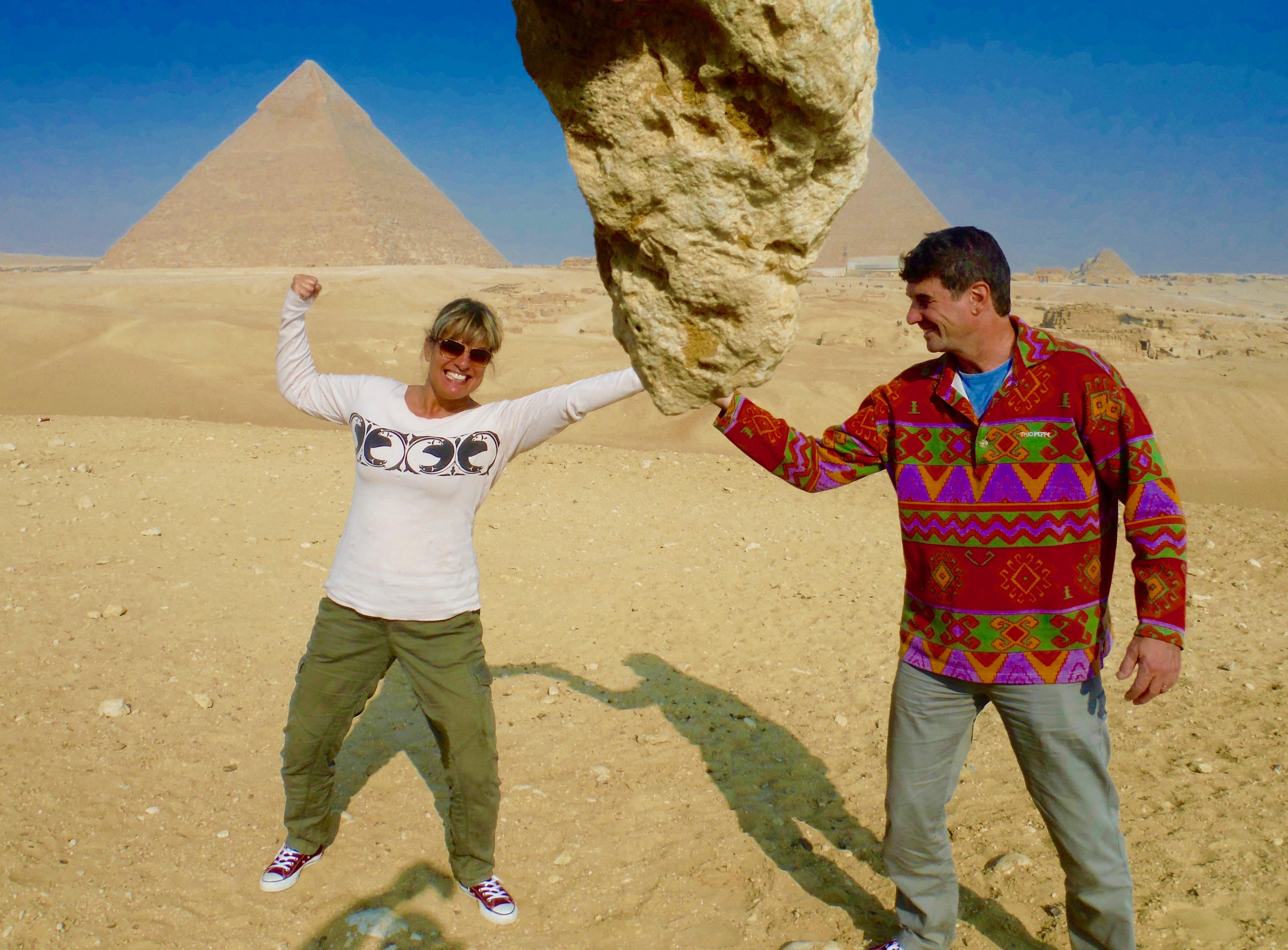 2015 - Giza, Egypt -Goofing around at the pyramids!