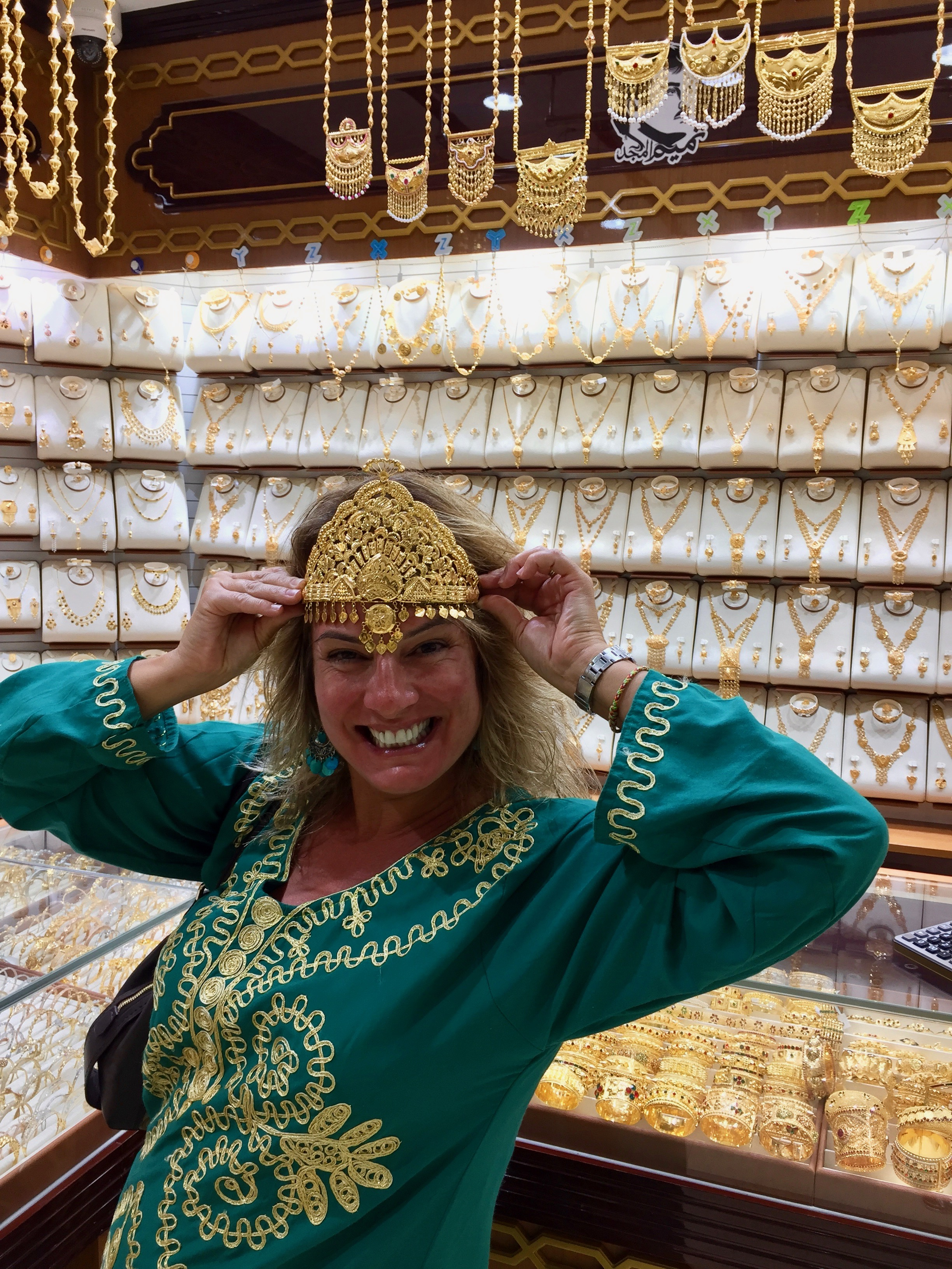 2017 - Souq Waqif, Qatar - Wearing a crown of gold, just like an empowered queen!