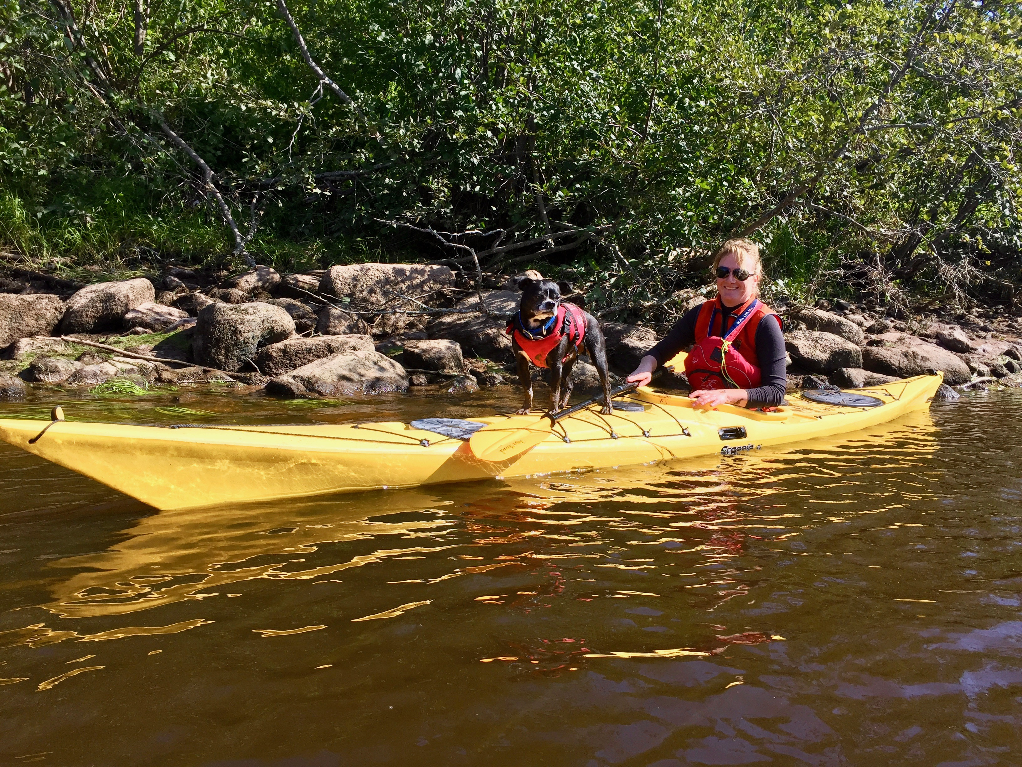 Windsor, Nova Scotia - Kayaking on the Avon River - Liz and Stanfield!