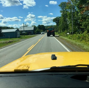 Windsor, Nova Scotia - Tractor traffic!