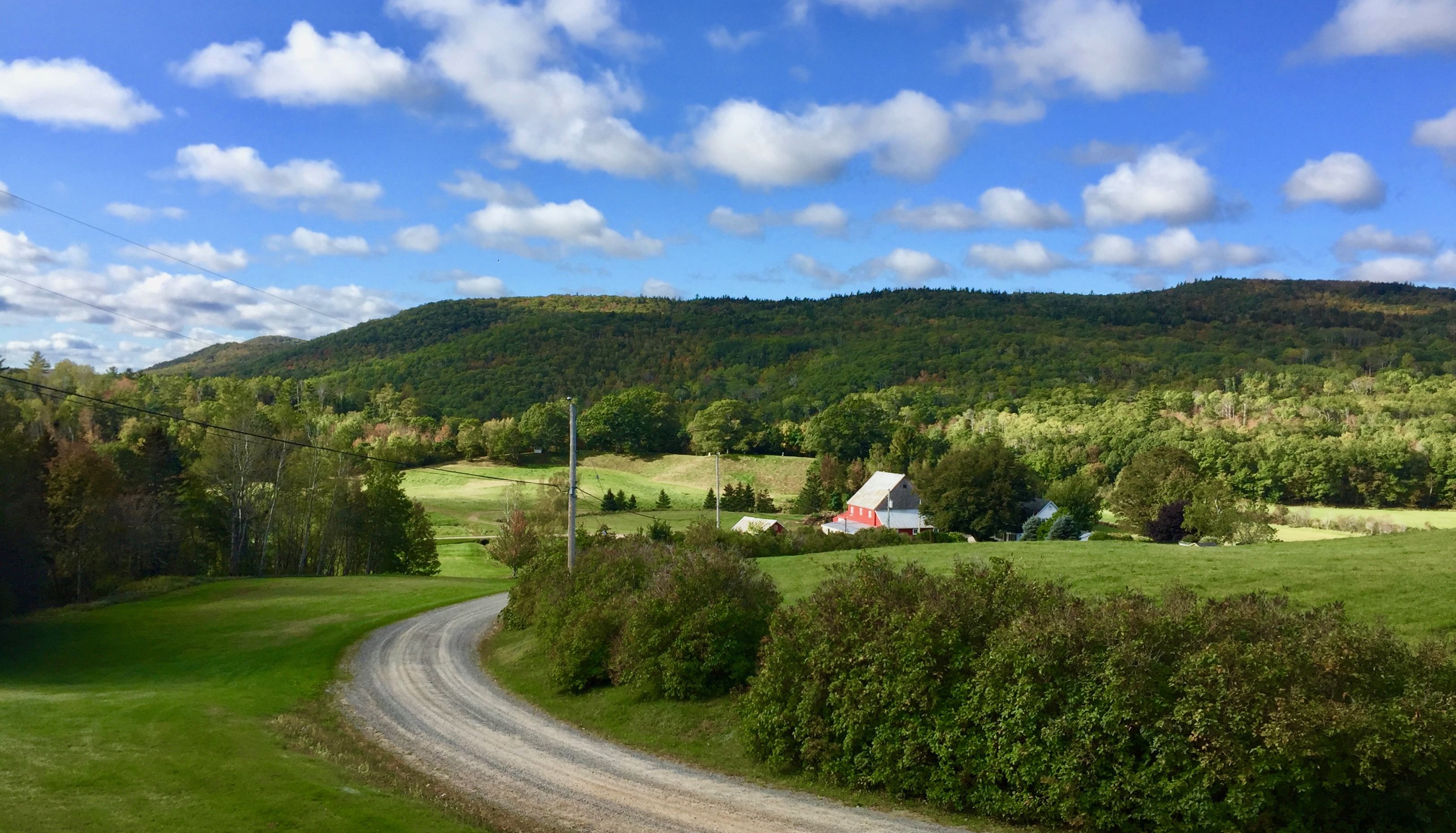 Mill Section, Nova Scotia - Farmland in the valley of the Appalachian low mountains