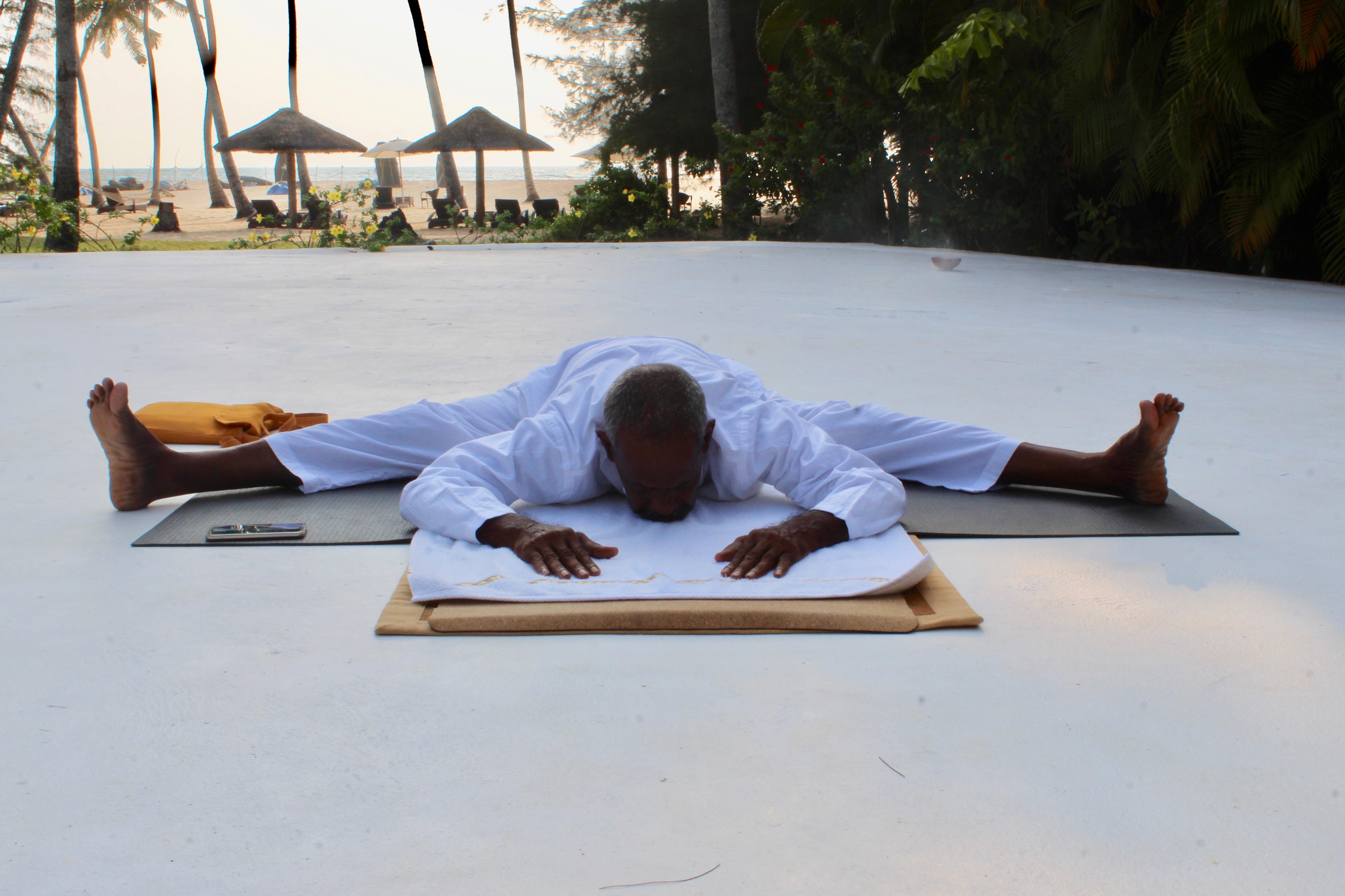 2019 - Mararikulam North, Kerala, India - Carnoustie Ayurvedic & Wellness Resort - Yoga Instructor Gopal, 74 years of awesome!