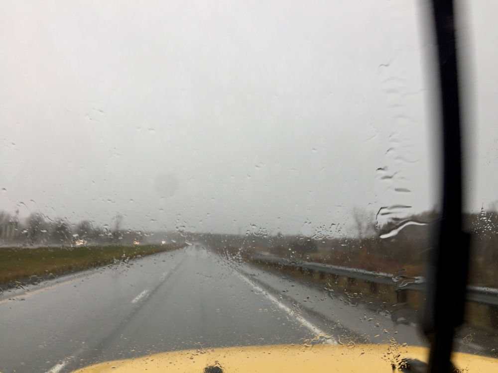 2019 - HRM, Nova Scotia - Rain starts to turn to snow