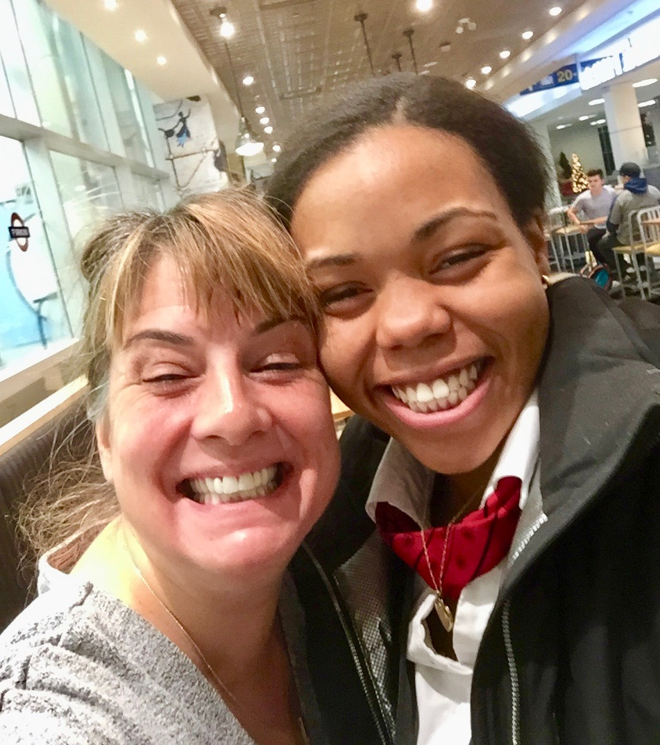 2019 - December 26th - Halifax Stanfield Airport - Shanelle and I