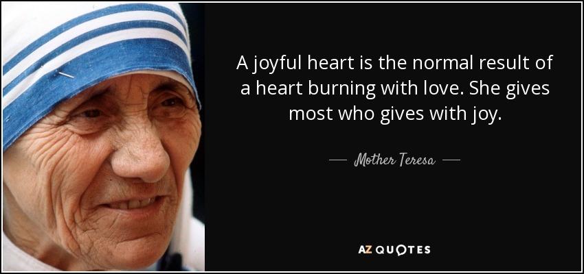 Joyful Quote - Mother Theresa