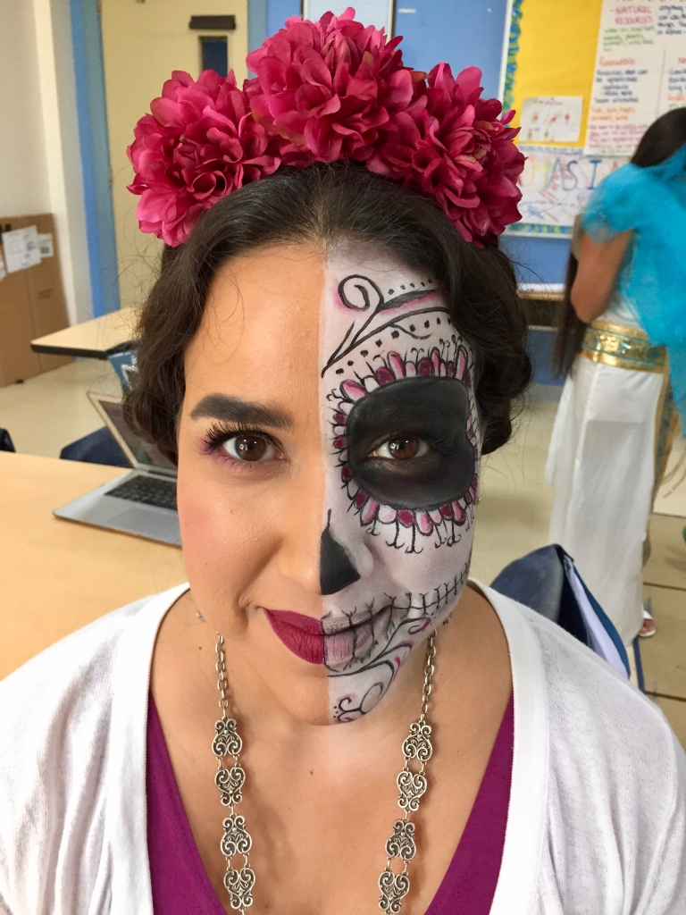 2018 - American School of Doha - Halloween Day - Laura Blanco - Day of the Dead makeup!!