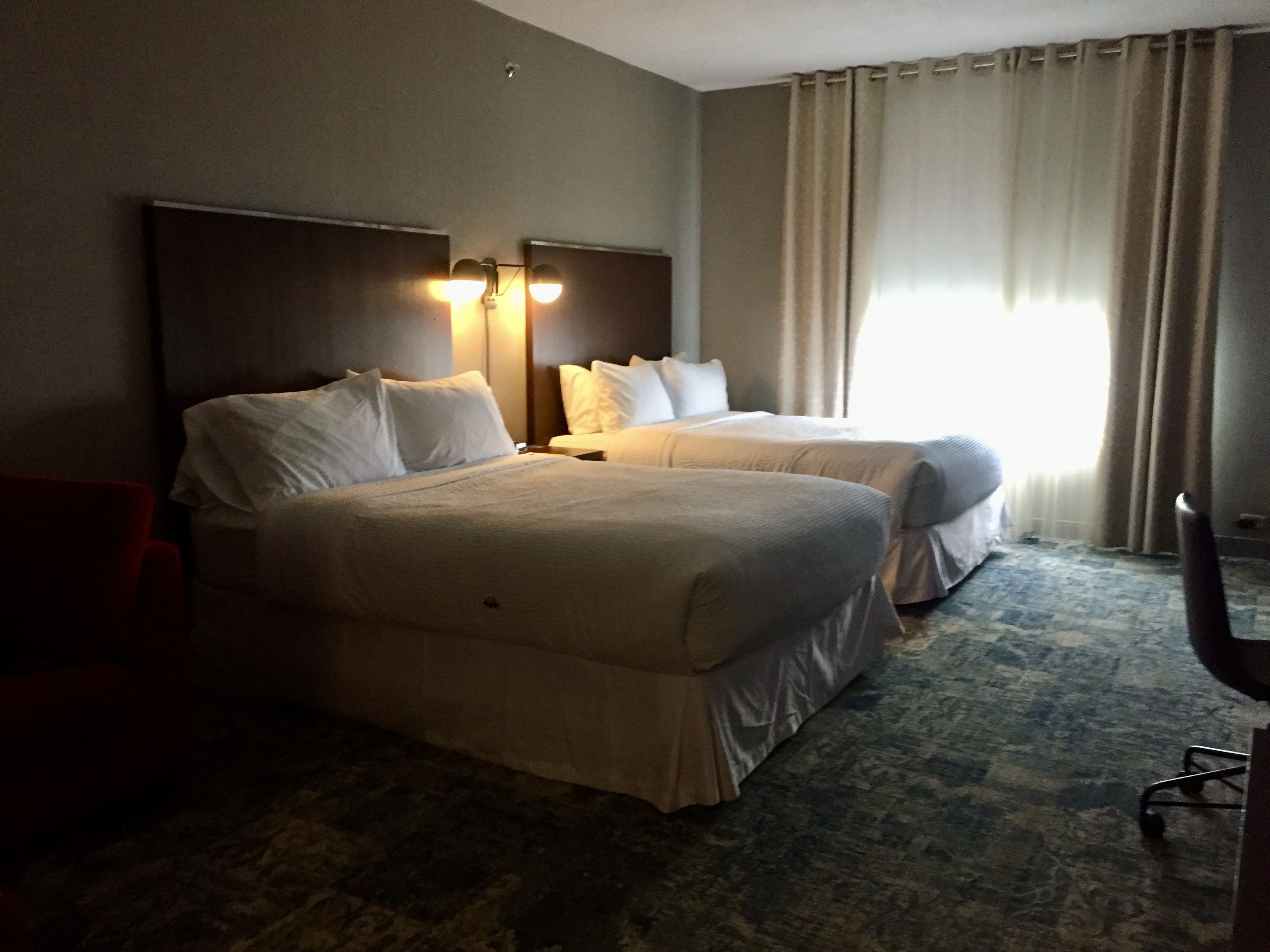 2019 - December - Four Points by Sheraton Dixie Rd - Upgraded room to a double queen suite!