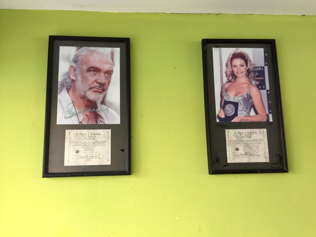 "2019 - Chahué Bay - El Pibe de La Plata restaurant - Pictures of Hollywood celebrities lined the walls. I wondered if the restaurant was so busy, because it was so famous that so many celebrities had eaten here. D'oh!!! NO!!! The previous owner paid for these ""authentic"" autographed photos!"
