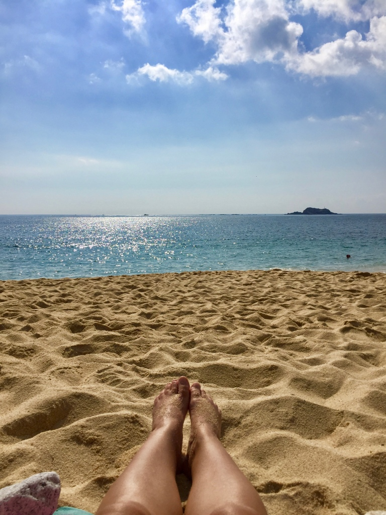 2019 - Chahué Bay, Chahue Beach, Huatulco, Mexico - Looking out at the water - the Pacific Ocean