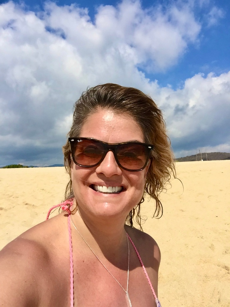2019 - Chahué Bay, Chahue Beach, Huatulco, Mexico - At one of my happy places - a tropical beach!