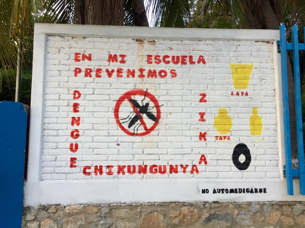 2019 - Huatulco, Mexico - La Crucecita - Mosquitos are not allowed to enter this area!