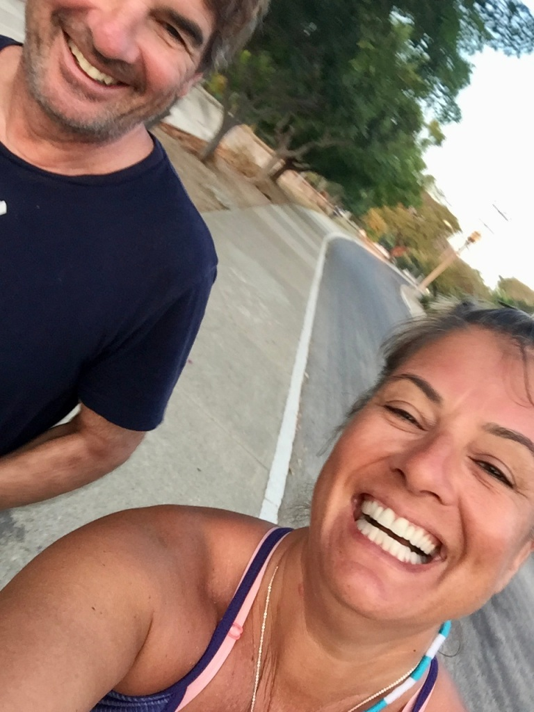 January, 2020 - Huatulco, Mexico - One morning, Michael joins me on my run!!