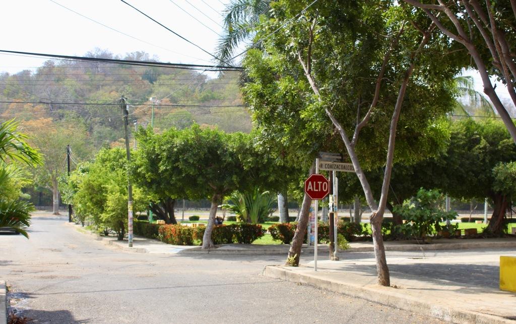 2019/2020 - La Crucecita, Huatulco, Mexico - Street corner outside Airbnb apartment