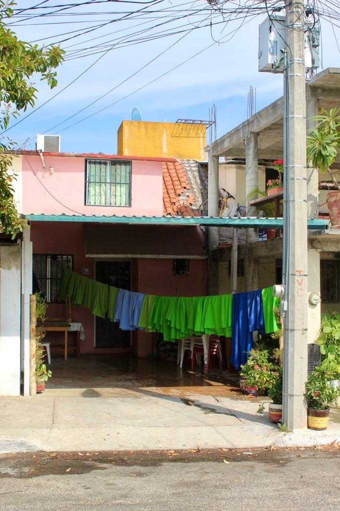 2019 - Christmas Break - La Crucecita, Huatulco, Mexico - walking the neighborhood - colorful laundry