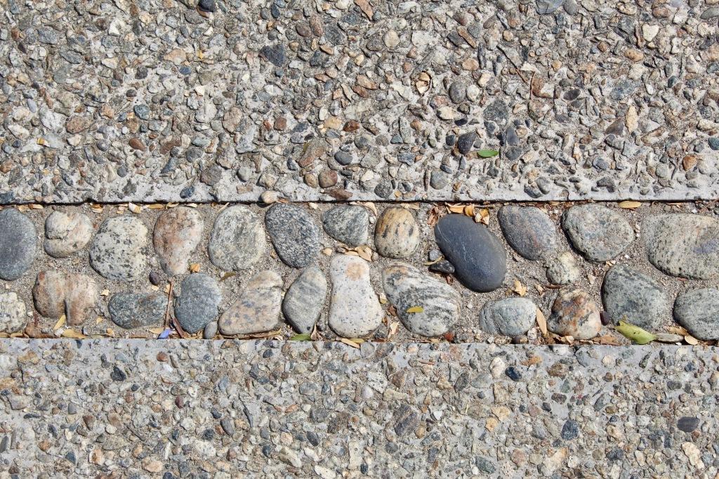 2019 - Christmas Break - La Crucecita, Huatulco, Mexico - walking the neighborhood - concrete sidewalk with pretty stones