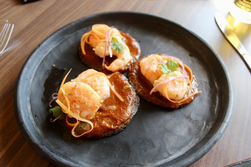 2019 - Christmas Break - Huatulco, Mexico - Lunch at Sabor a Mi - Shrimp Chalupas