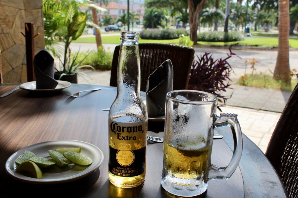 2019 - Christmas Break - Huatulco, Mexico - Lunch at Sabor a Mi - A cold, cold Corona!
