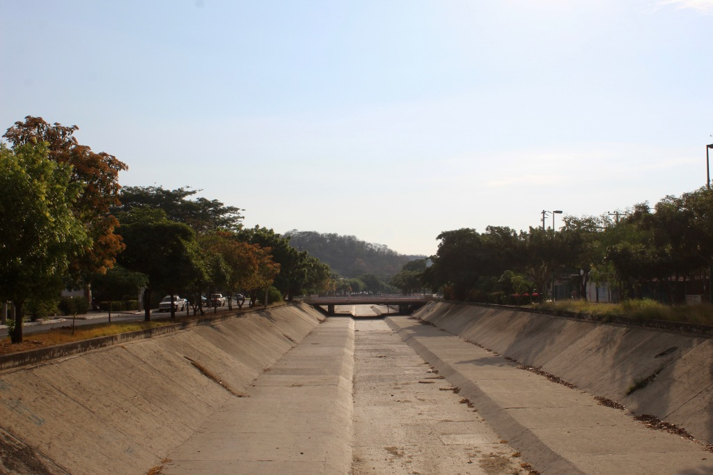 2019 - December - La Crucecita, Huatulco, Mexico - The culvert between a main street in the neighborhood - I'm in the same spot - now facing East - towards the beach.