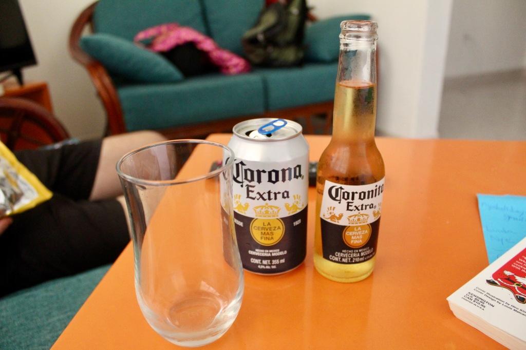 2019 - December - La Crucecita, Huatulco, Mexico - Mini bottles of Corona!