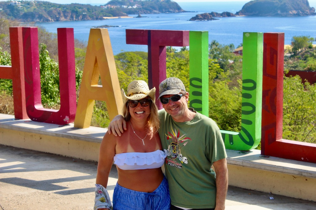 2019 - December - Tangolunda Bay, Huatulco, Mexico - Tourist spot overlooking Tangolunda Bay - Close - up - Michael and I