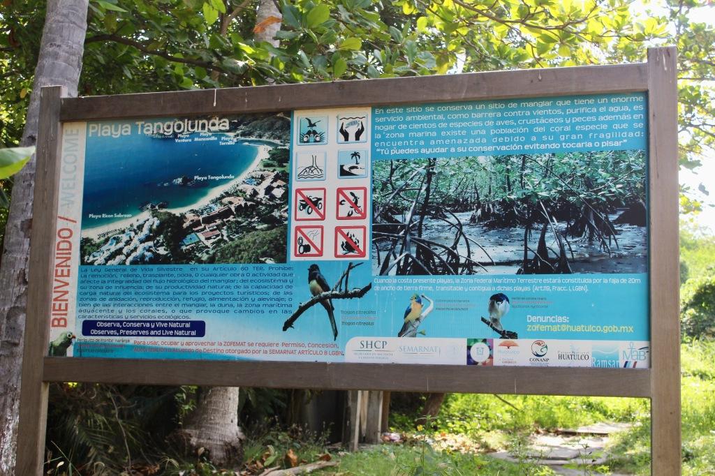 2019 - December - Tangolunda Beach, Huatulco, Mexico - Signage