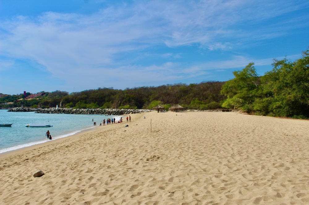 2019 - December - Tangolunda Beach, Huatulco, Mexico - Looking further right